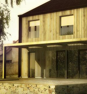 mimosa-vraný-rodinný-dům-vesnice-kámen-dřevo